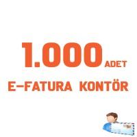 1.000 ADET E-FATURA KONTÖR