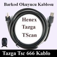KABLO-HENEX TSCAN TAZGA 666 BARKOD OKUYUCU KABLOSU