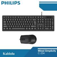 KLAVYE-PHILIPS C234 SPT6234 KABLOLU USB Q KLAVYE MOUSE SET