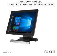 """P2C J-200P-WOS CPU J1900 / 8 GB / 64SSD/15"""" DOKUNMATIK PC"""