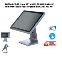 """TAZGA DPC-1515M-V 15""""MULTİ TOUCH İ5-4200U/4GBRAM/120GB/M.EKRANLI"""
