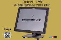 "Tazga Pc - 1705 / İntel İ5-6200 /4Gb/120Gb Ssd /17"" LED PC+KLAVYE"