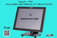 """TAZGA AIO PC - 1705 / İNTEL İ5-6200 /4GB/120GB SSD /17"""" LED PC+KLAVYE"""