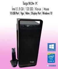Tazga PC [58120w] İntel i5 / 8 GB / 120 SSD / Klavye  / Mouse /Windows 10 Lisans