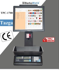 TAZGA TPC-TERAZİ POS / ÇİFT EKRAN / BARKOD OKUYUCU / PROGRAMLI