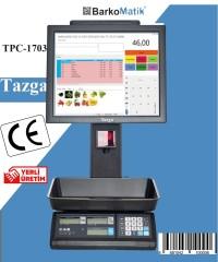 TAZGA TPC- POS TERAZİ / TEK EKRAN / BARKODLU