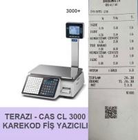 TERAZI - CAS CL 3000P KAREKOD FİŞ YAZICILI
